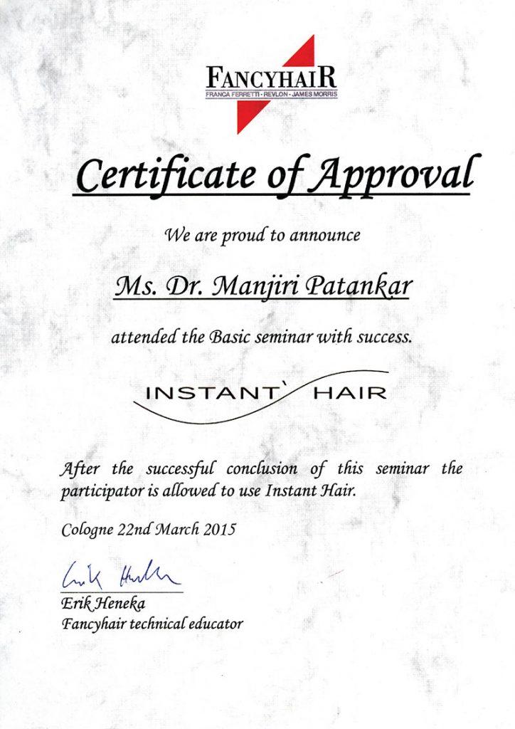 Certificate manjiri
