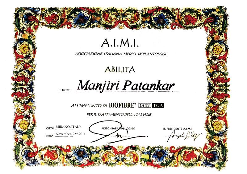 completion certificate manjiri