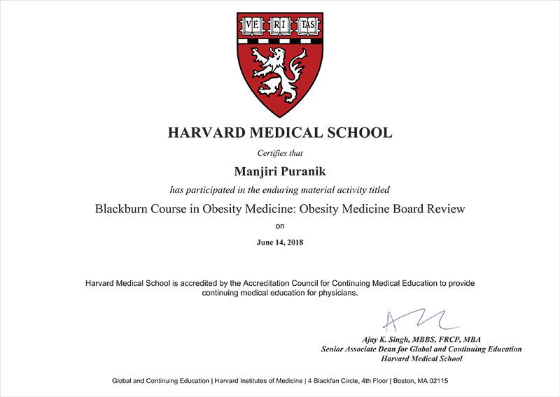 Certificate-Harvard university